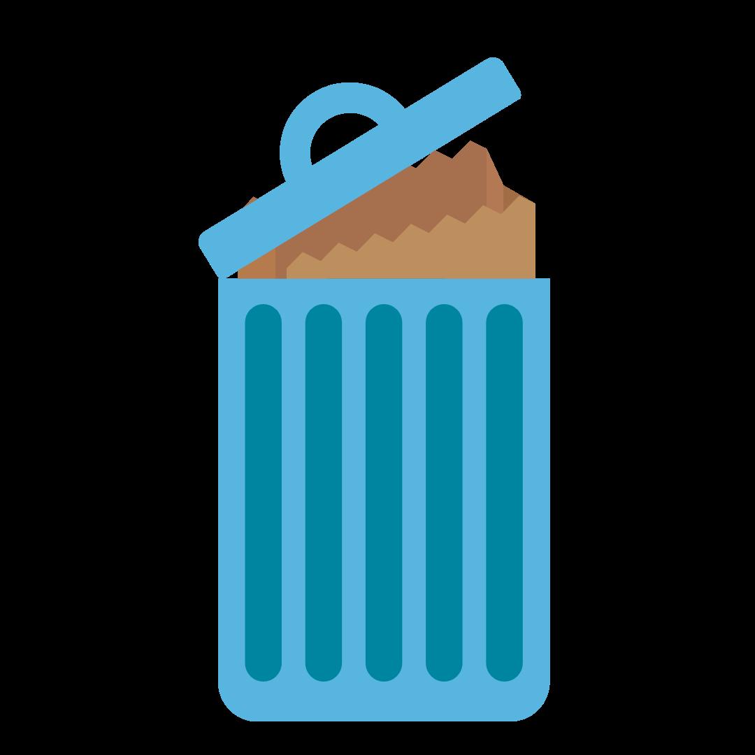 Garbage Bin with Paper Bag Liner
