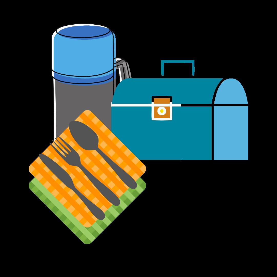 Reusable Lunch Box, Cloth Napkin, Silverware