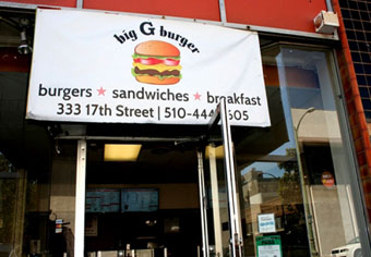 Big G Burgers. ReThink Disposable