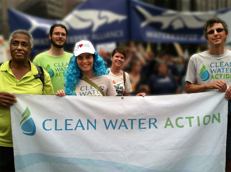 Clean Water staff and board at 2014 Cimate March in NYC