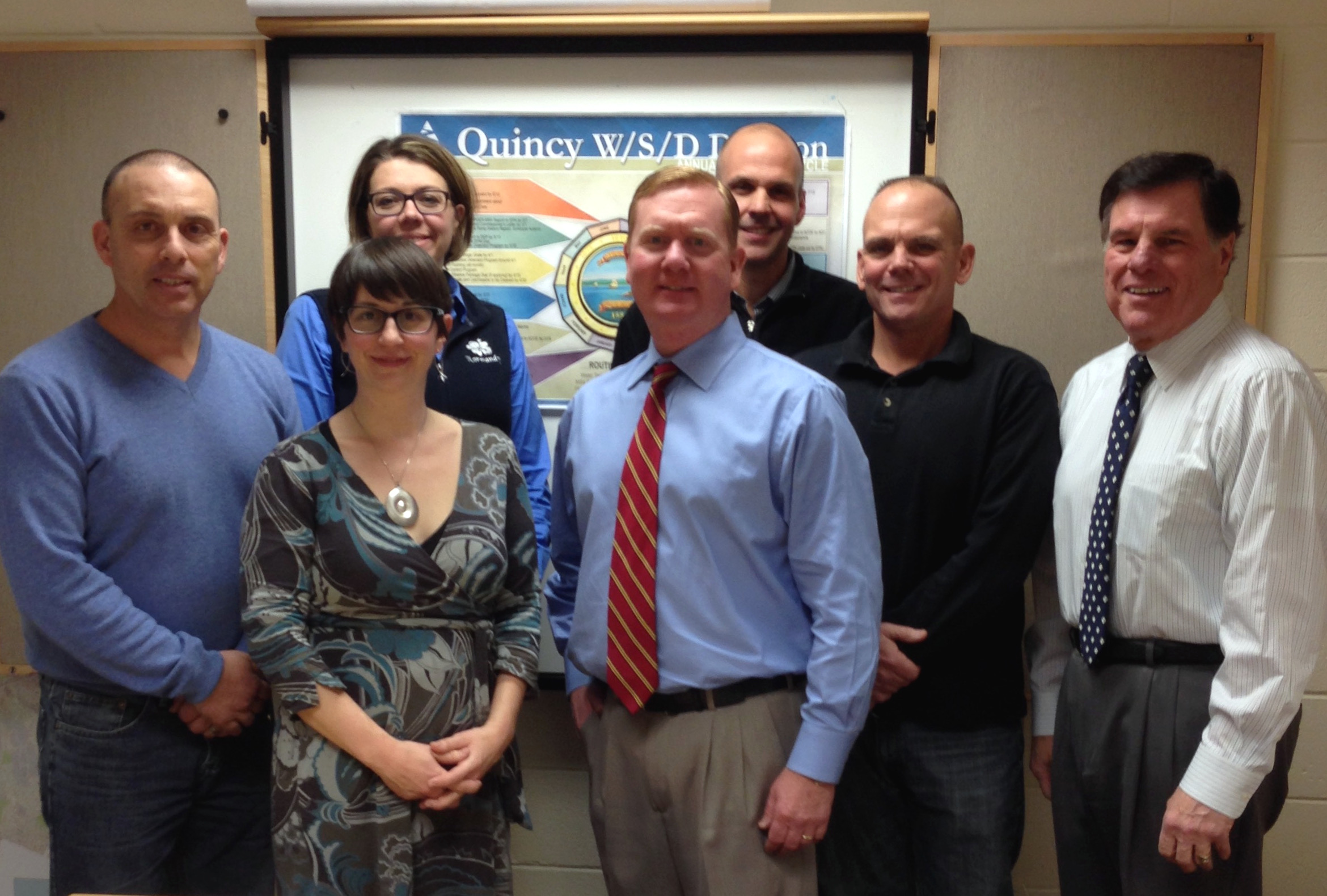 Becky Smith of Clean Water with Quincy Water & Sewer staff