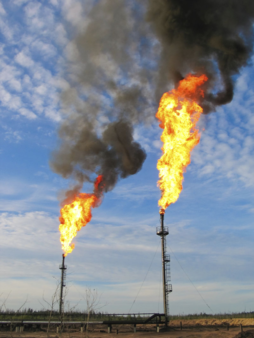 Methane flares
