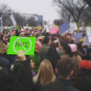No Hate sign at the Women's March - Michael Kelly