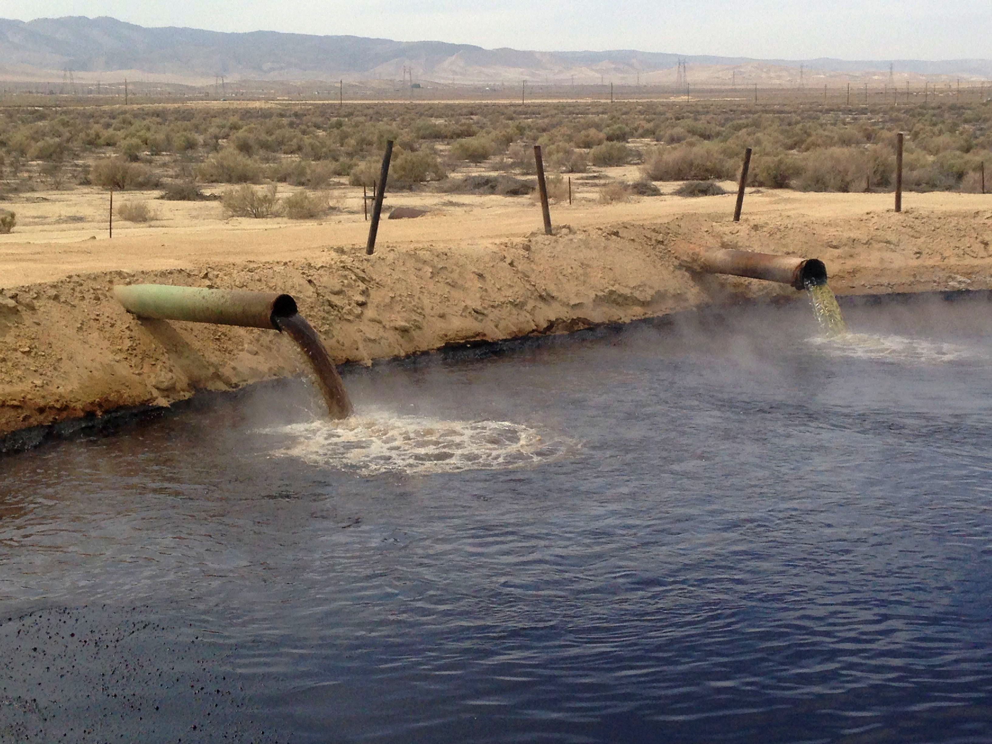 Oil and gas wastewater pit. Credit Andrew Grinberg