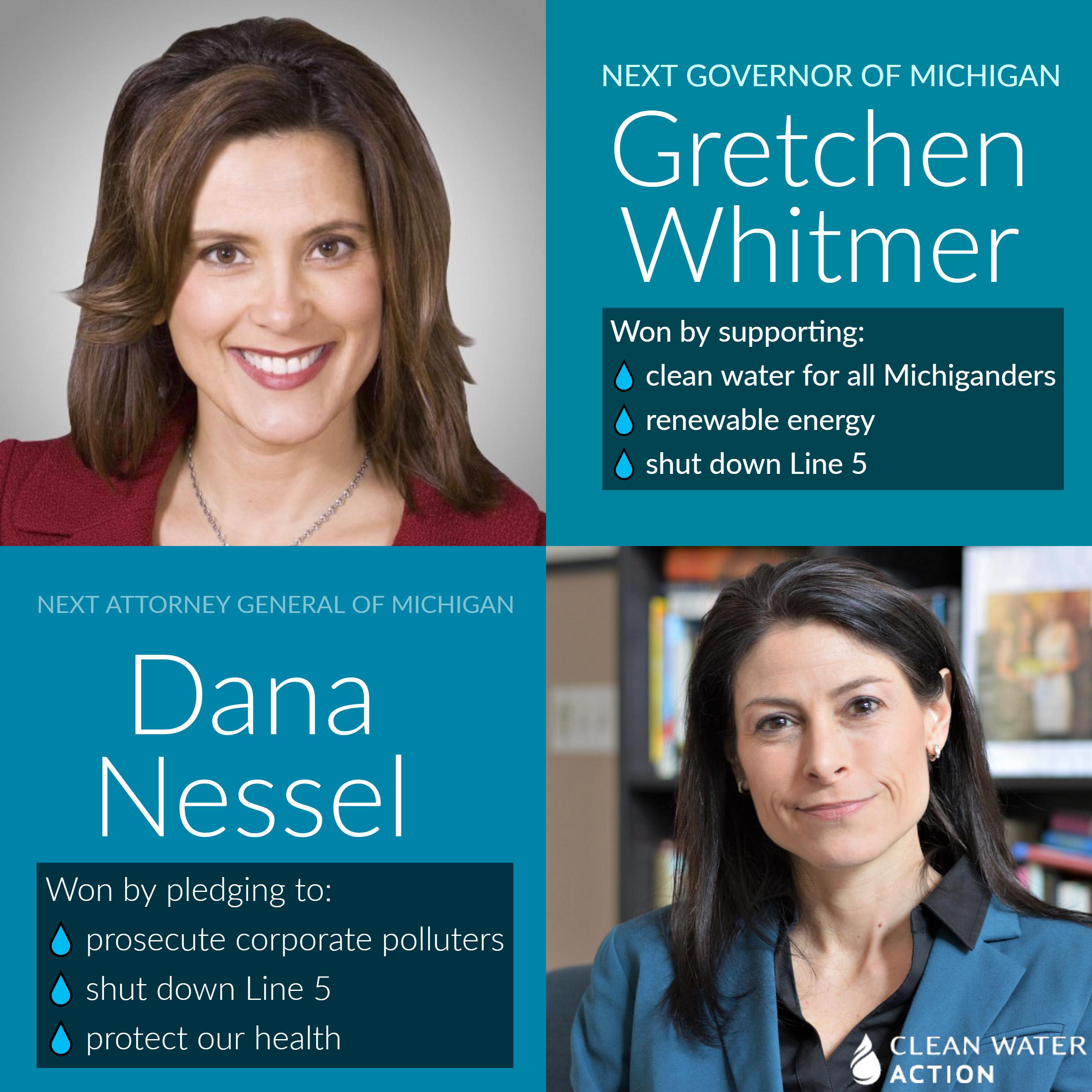 Gretchen Whitmer and Dana Nessel