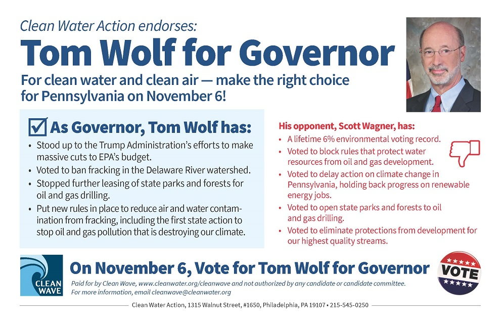 Vote for Tom Wolf for Governor