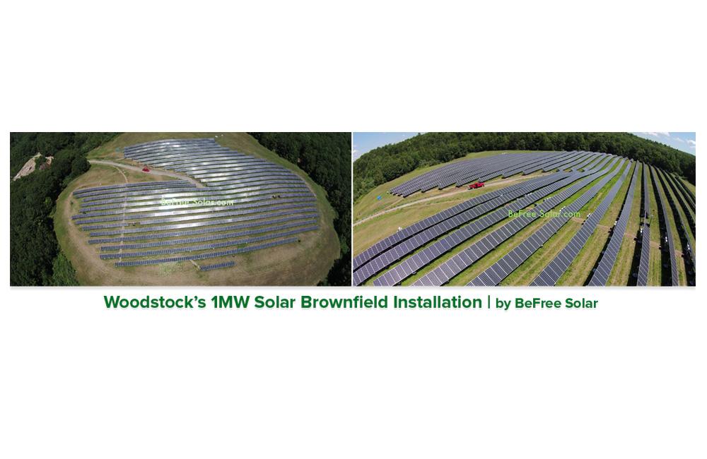 Woodstock CT solar installation. Courtesy of BeFree Solar