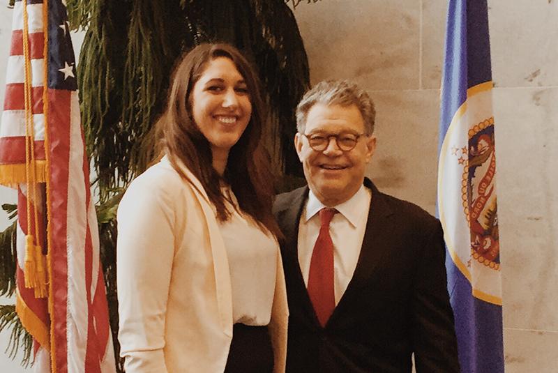 Clean Water Action Organizer Wendy Heath with Senator Al Franken