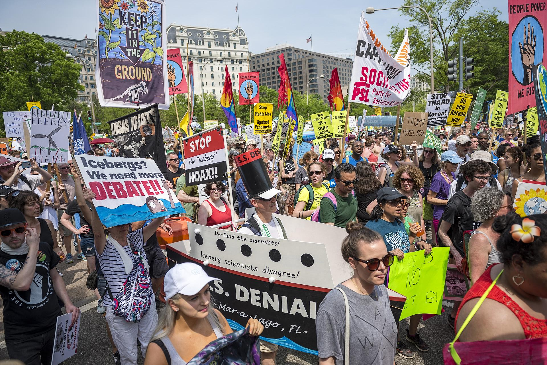 Peoples Climate March. Photo by Greg Leshe