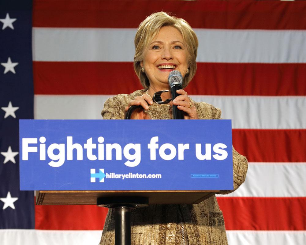 Hillary CLinton for President. Credit: Joseph Sohm / Shutterstock.com