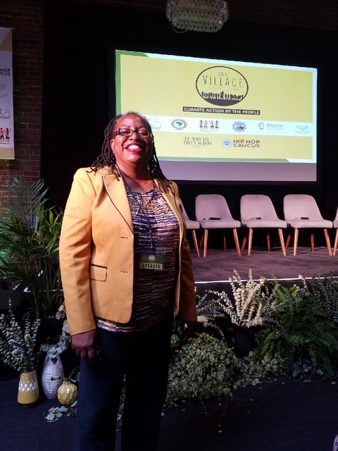 kim gaddy wit the Hip Hop Caucus at california climate summit