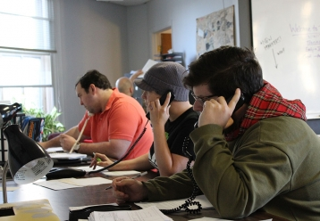 Pittsburgh phone canvass (from L to R: John, Meghan, Geoff)