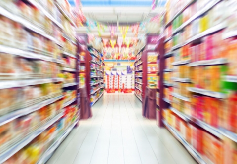 Aisle in a store, blurred. Photo credit: gyn9037 / Shutterstock