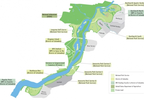 Map of the Anacostia in DC - Anacostia Waterfront Trust
