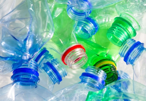 Pile of cololrful plastic bottles. Photo Credit: Don Pablo/Shutterstock