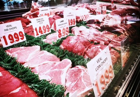 display of meat