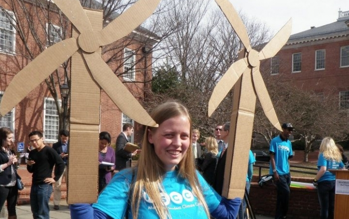 A rally in Annapolis in March 2012 for the Maryland Offshore Wind Act