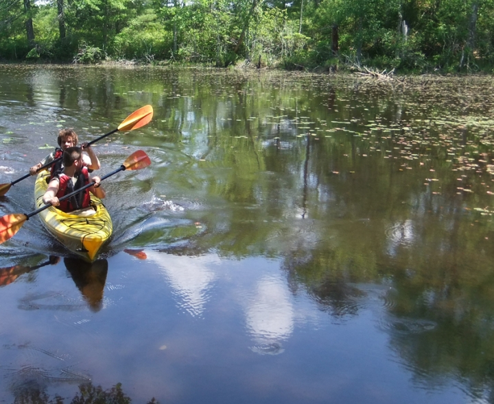 Greene School students kayaking - courtesy of Nature Conservancy Rhode Island