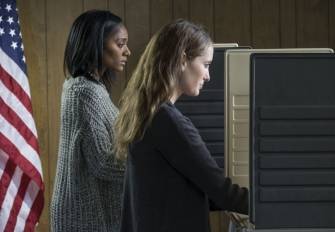 Two women voting. Photo credit: Burlingham / Shutterstock