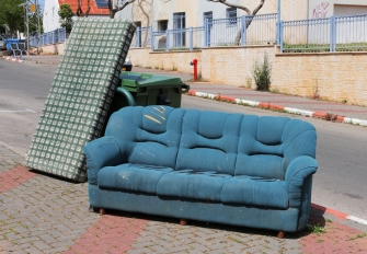 Furniture abandoned on the street