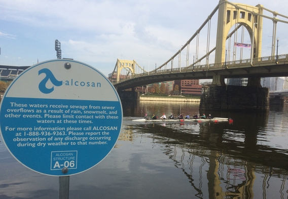 ALCOSAN sign & river