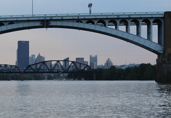 Allegheny River, Pittsburgh skyline. photo: Clean Water Action