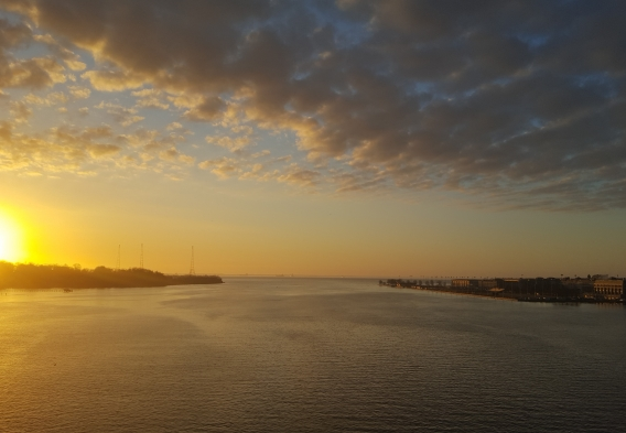 The Severn River at sunrise