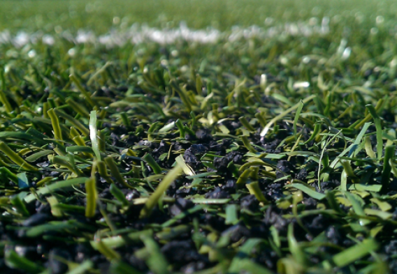 Rubber crumb artificial turf