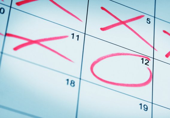 Calendar counting down to May 12th, 2021 - Deadline for Line 5 Shutdown