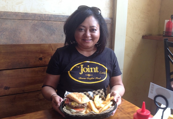 Shirley Berry, owner of The Joint Eatery in San Jose, a particpant in the Rethink Disposable program