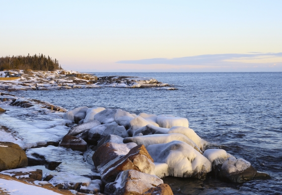 Lake Superior in the Winter