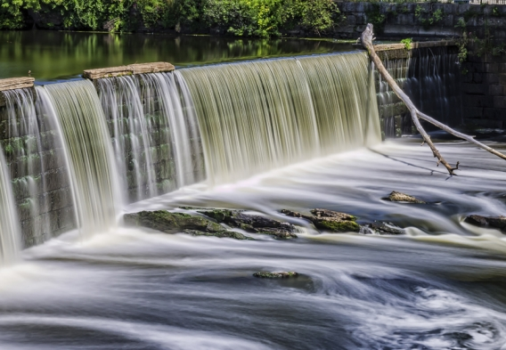 Blackstone River Waterfall. Photo credit: scott conner / Shutterstock