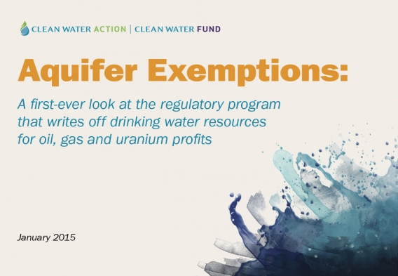 Aquifer Exemptions: The Report